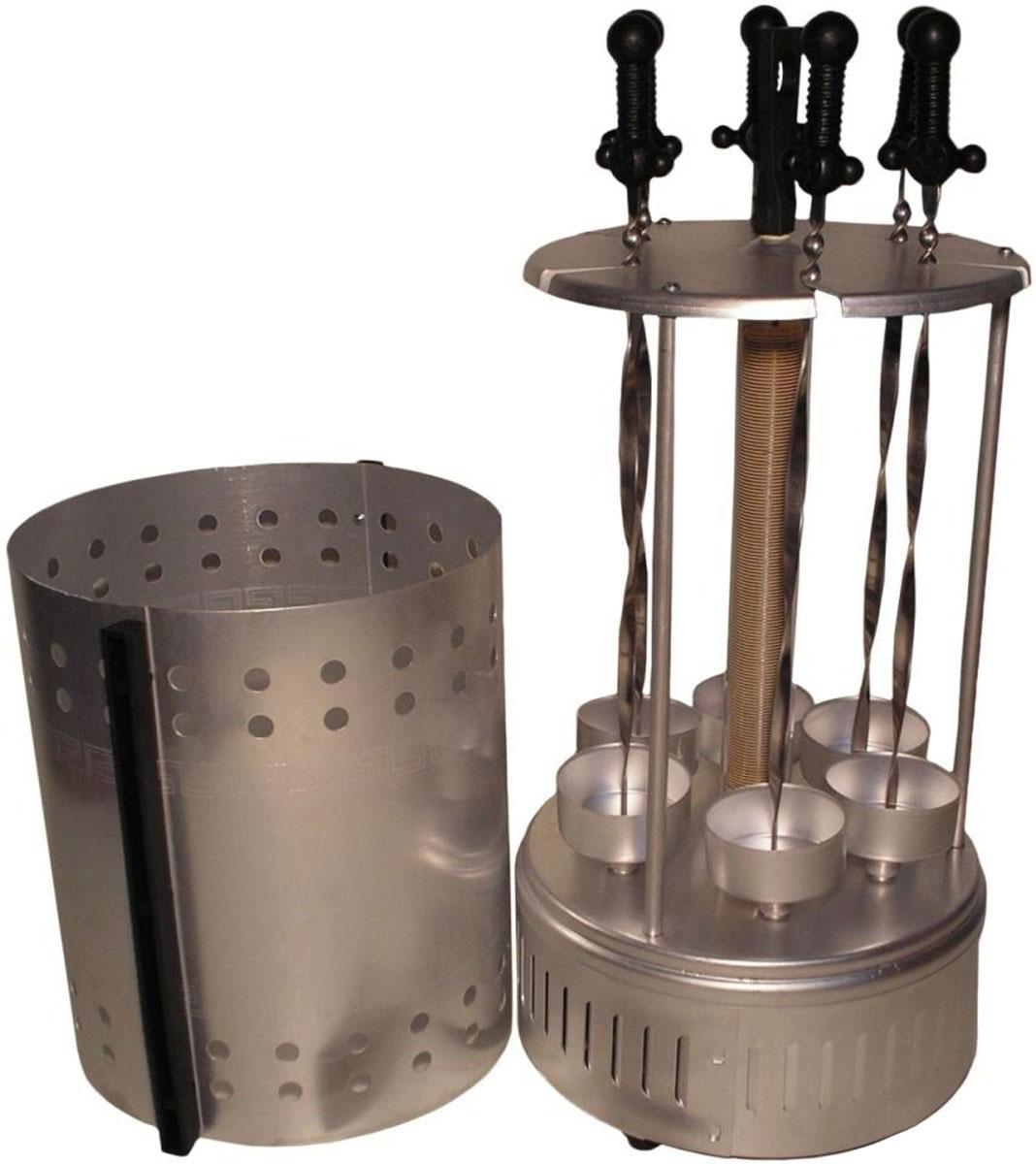 Пикник ЭШВ-1,25/220 электрошашлычницаЭШВ-1,25/220Электрошашлычница Пикник ЭШВ-1,25/220, предназначена для приготовления шашлыка в домашних условиях. Нагревательный элемент устройства из соображений безопасности заключен в стекло. Масса сырого шашлыка для одной загрузки составляет 1.6 кг. Шампуры вращаются с частотой 2 оборота в минуту, что обеспечивает оптимальную прожарку продукта. Для полноты вкусовых ощущений вы можете использовать жидкий дым, тогда шашлык не будет отличаться от приготовленного в мангале.