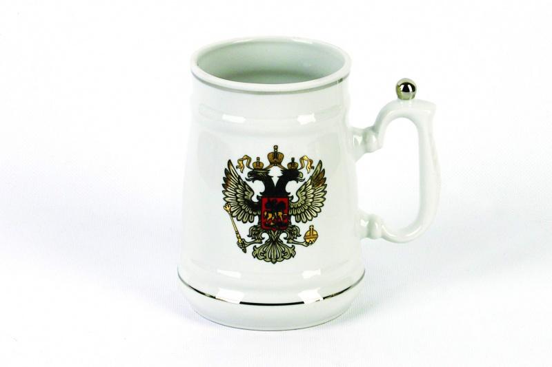 Кружка Фарфор Вербилок Герб платиновый. 26540000УП26540000УПКрасивая фарфоровая кружка способна скрасить любое чаепитие. Посуда из такого материала позволяет сохранить истинный вкус напитка, а также помогает ему дольше оставаться теплым.