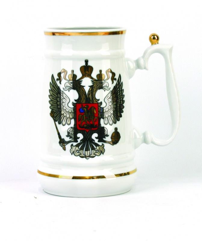 Кружка Фарфор Вербилок Герб. 2655000026550000Красивая фарфоровая кружка способна скрасить любое чаепитие. Посуда из такого материала позволяет сохранить истинный вкус напитка, а также помогает ему дольше оставаться теплым.