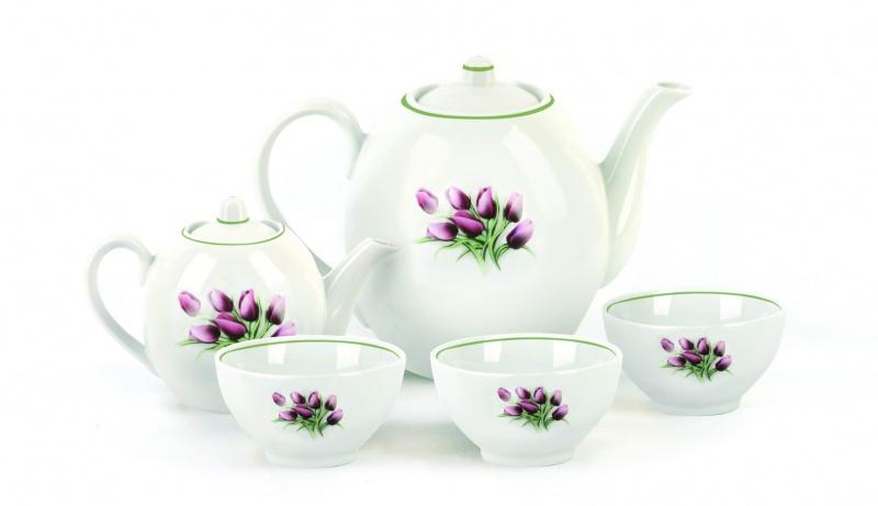 Набор чайный Фарфор Вербилок Собрание. Тюльпаны. 47809804780980Предметы выполнены так, чтобы Вам было максимально удобно держать их в руках во время чаепития.