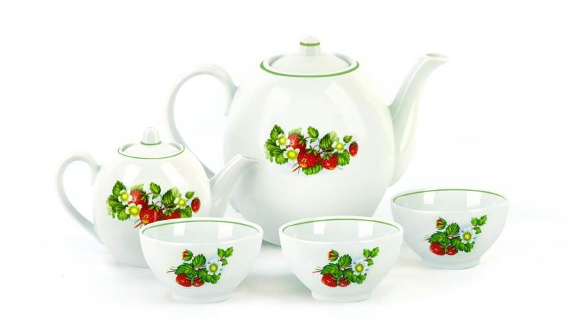 Набор чайный Фарфор Вербилок Собрание. Цветущая земляника. 47814904781490Предметы выполнены так, чтобы Вам было максимально удобно держать их в руках во время чаепития.