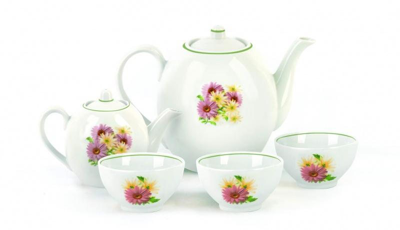 Набор чайный Фарфор Вербилок Собрание. Розовые герберы. 47816604781660Предметы выполнены так, чтобы Вам было максимально удобно держать их в руках во время чаепития.