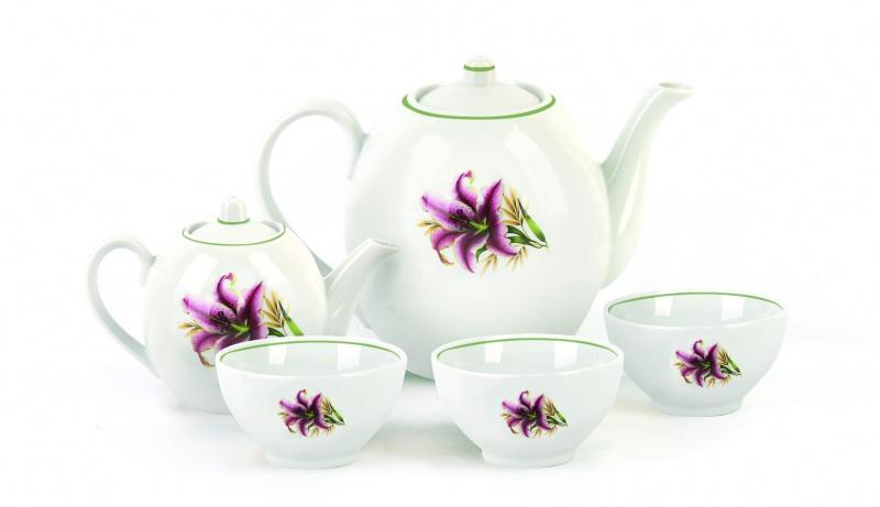 Набор чайный Фарфор Вербилок Собрание. Розова лилия. 47819904781990Предметы выполнены так, чтобы Вам было максимально удобно держать их в руках во время чаепития.