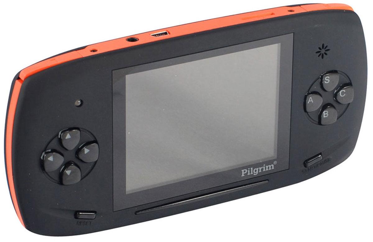 Игровая приставка DVTech Pilgrim 2 4.3 LCD 350 игр, Black Orange4601250109169DVTech Pilgrim 4.3 LCD - портативная игровая система c поддержкой игр 16 bit Sega и 8 bit Dendy, совместима с картами памяти формата micro SD, имеет 350 предустановленных игр разных жанров. В приставке успешно соединяются - классическое управление, качественный LCD экран с диагональю 4.3, внешняя регулировка звука, а также возможность подключения к телевизору по низкой частоте.AV-выходВыход на наушникиВстроенный динамикТип аккумулятора: Li-Ion