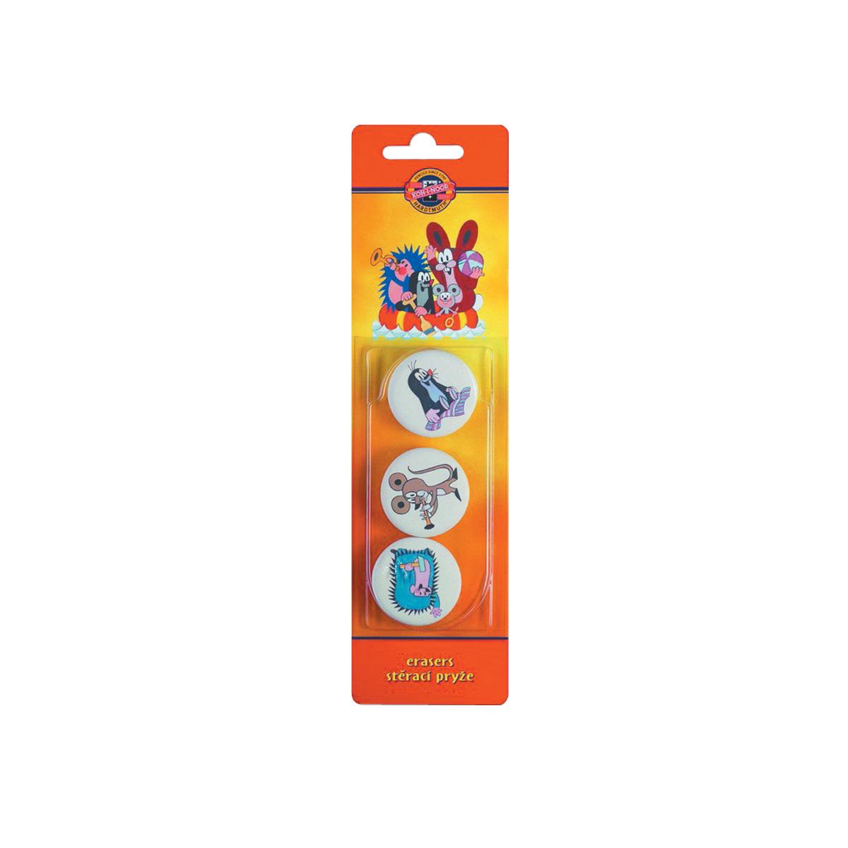 Koh-i-Noor Набор ластиков Крот 3 шт - Чертежные принадлежности