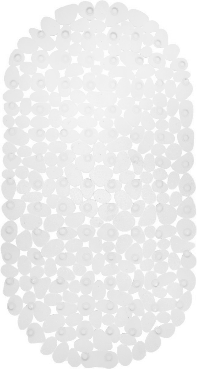 Коврик для ванной Axentia Галька, противоскользящий, на присосках, цвет: прозрачный, 67 х 34 см babyono коврик противоскользящий для ванной цвет голубой 70 х 35 см