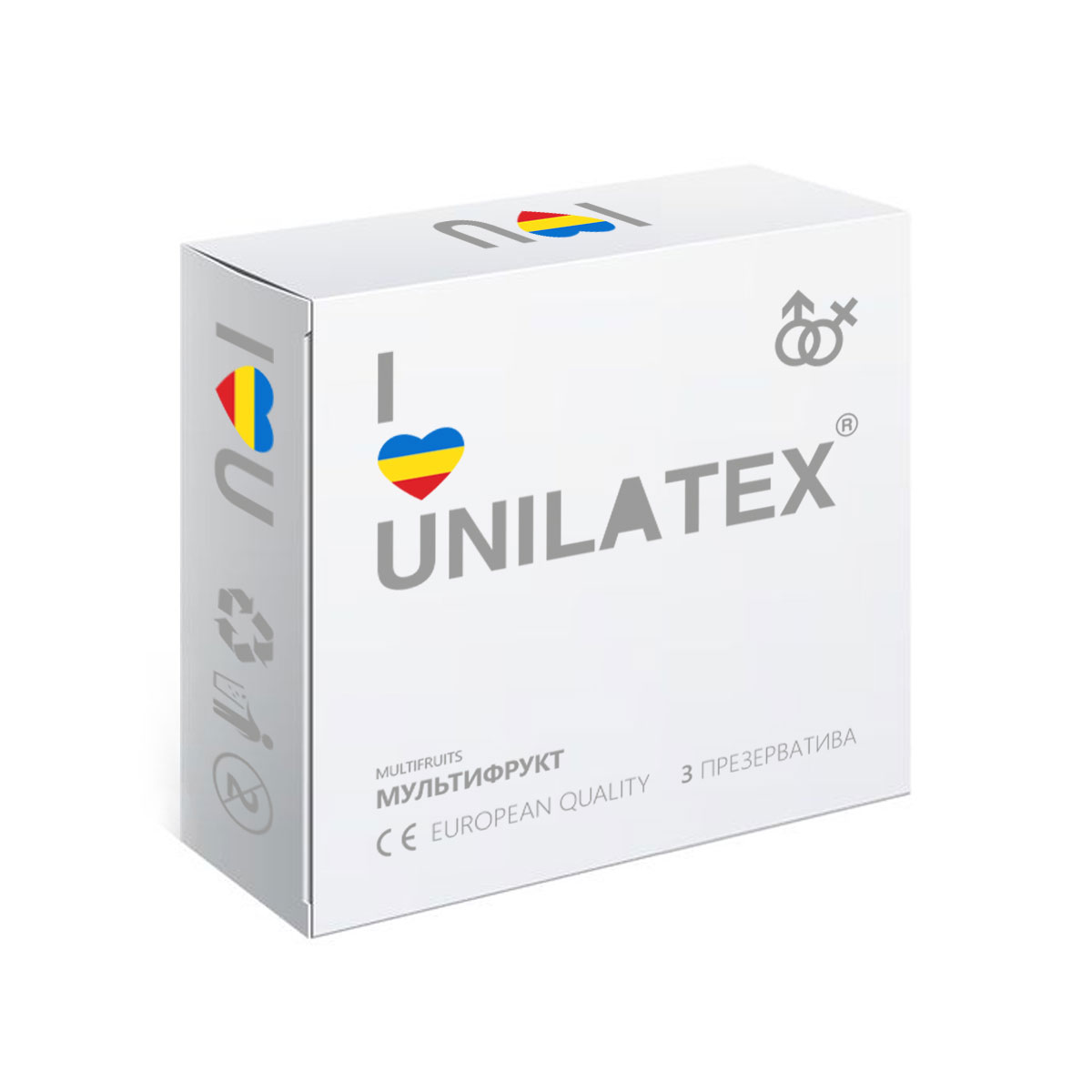 Презервативы Unilatex Multifruits, 3 шт тэдди lace and wet look teddy размер xl xxl