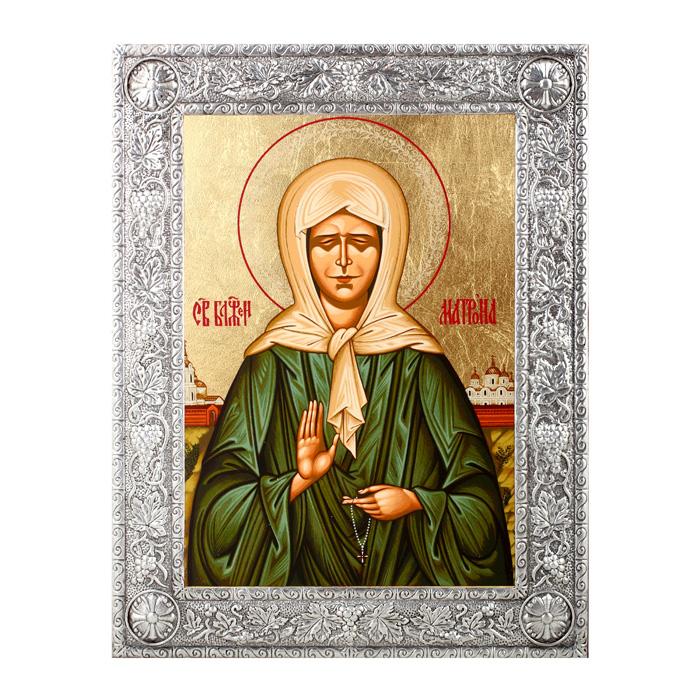 Икона Артола Святая Матрона, 16,5 см х 21,5 см х 1 см икона янтарная матрона московская кян 2 201