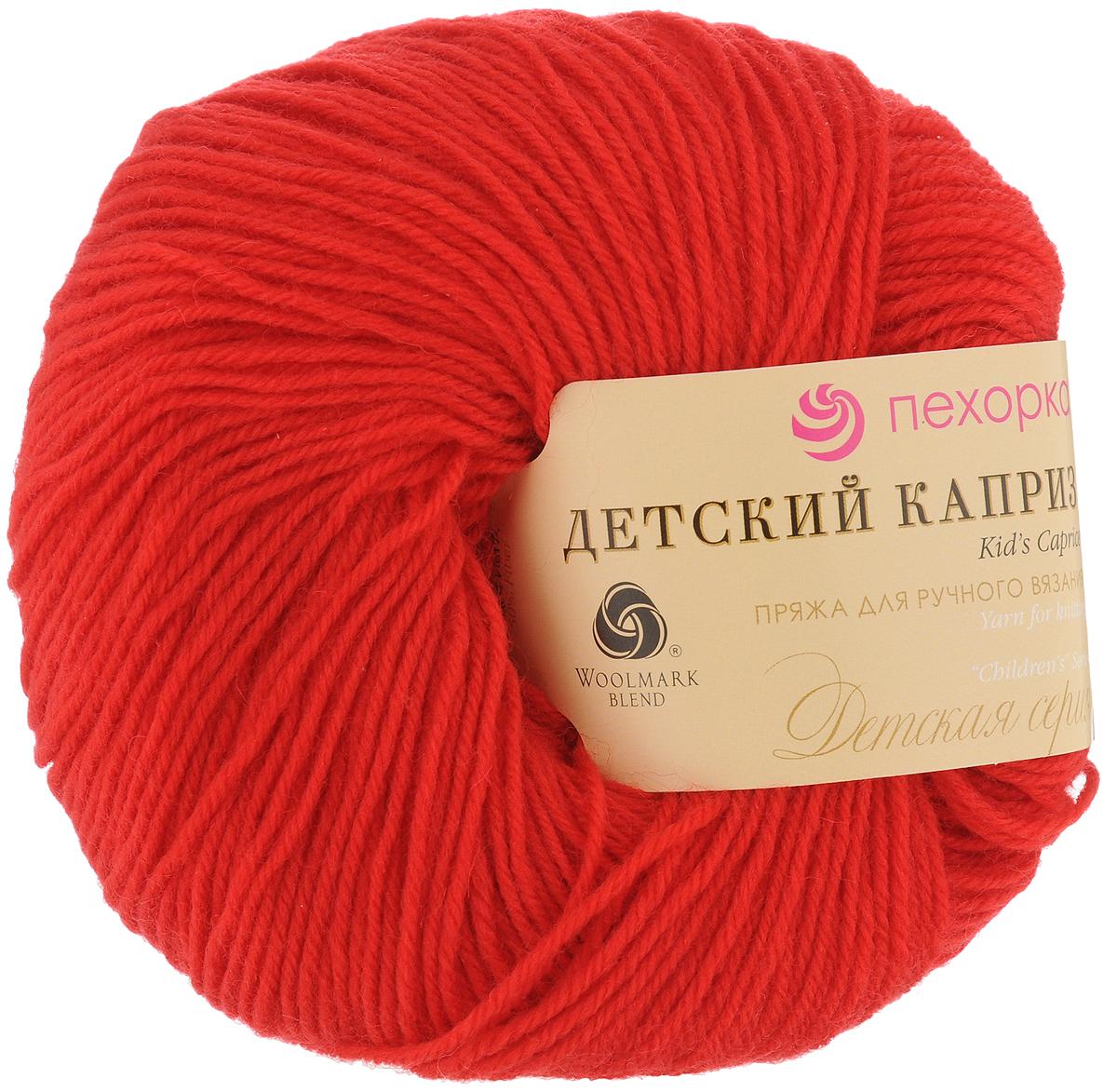 """Пряжа для вязания Пехорка """"Детский каприз"""", цвет: красный мак (88), 225 м, 50 г, 10 шт"""