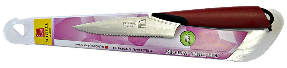 Нож столовый Marvel Santoku Series, цвет: серый, длина лезвия 15 см. 8731287312