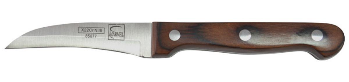 Нож для чистки овощей Marvel Rose Wood Original, длина лезвия 7,5 см85077Нож Marvel Rose Wood Original, изготовленный из высококачественной стали, отлично подходит для чистки овощей. Он очень легкий и абсолютно не ржавеет. Эргономичная рукоятка ножа выполнена из дерева. Нож Marvel Rose Wood Original предоставит вам все необходимые возможности в успешном приготовлении пищи. Общая длина ножа: 17,5 см.