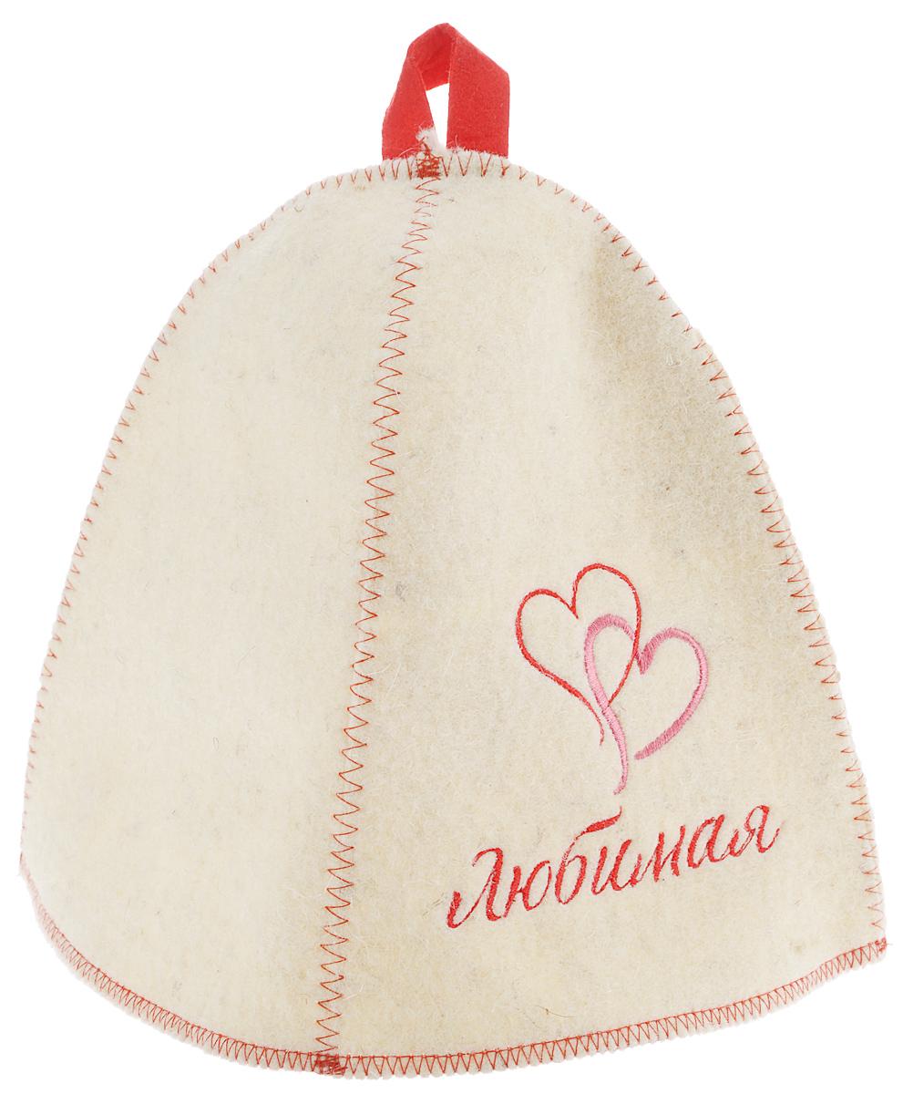 Шапка для бани и сауны Главбаня ЛюбимаяБ4017Банная шапка Главбаня Любимая, изготовленная из шерсти и полиэфира, декорирована надписью и яркой вышивкой в виде сердец. Банная шапка - это незаменимый аксессуар для любителей попариться в русской бане и для тех, кто предпочитает сухой жар финской бани. Кроме того, шапка защитит волосы от сухости и ломкости, голову от перегрева и предотвратит появление головокружения. На шапке имеется петелька, с помощью которой ее можно повесить на крючок в предбаннике. Такая шапка станет отличным подарком для любителей отдыха в бане или сауне. Обхват головы: 68 см.Высота шапки (без учета петельки): 25 см.