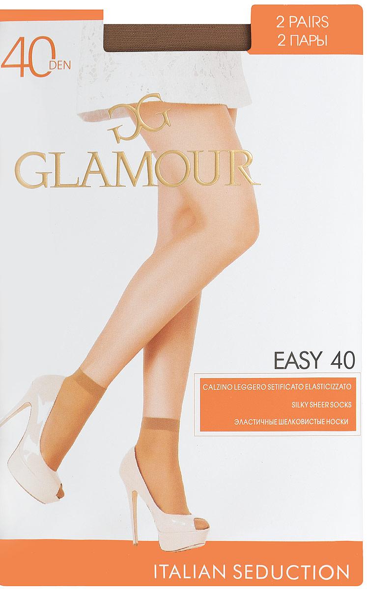 Носки женские Glamour Easy 40, цвет: Daino (загар), 2 пары. 25809. Размер универсальныйEasy 40Удобные женские носки Glamour Easy 40, изготовленные из высококачественного эластичного полиамида, идеально подойдут для повседневной носки. Входящий в состав материала полиамид обеспечивает износостойкость, а эластан позволяет носочкам легко тянуться, что делает их комфортными в носке.Эластичная резинка плотно облегает ногу, не сдавливая ее, обеспечивая комфорт и удобство и не препятствуя кровообращению. Практичные и комфортные носки с укрепленным прозрачным мыском великолепно подойдут к любой открытой обуви. В комплект входят 2 пары носков. Плотность: 40 den.