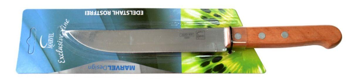 Нож для мяса Marvel Econom, длина лезвия 16 см. 1559115591Нож Marvel Econom изготовлен из высококачественной стали. Рукоятка выполнена из дерева. Она не скользит в руке и делает резку удобной и безопасной. Этот нож идеально подходит для нарезки мяса. Он займет достойное место среди аксессуаров на вашей кухне.