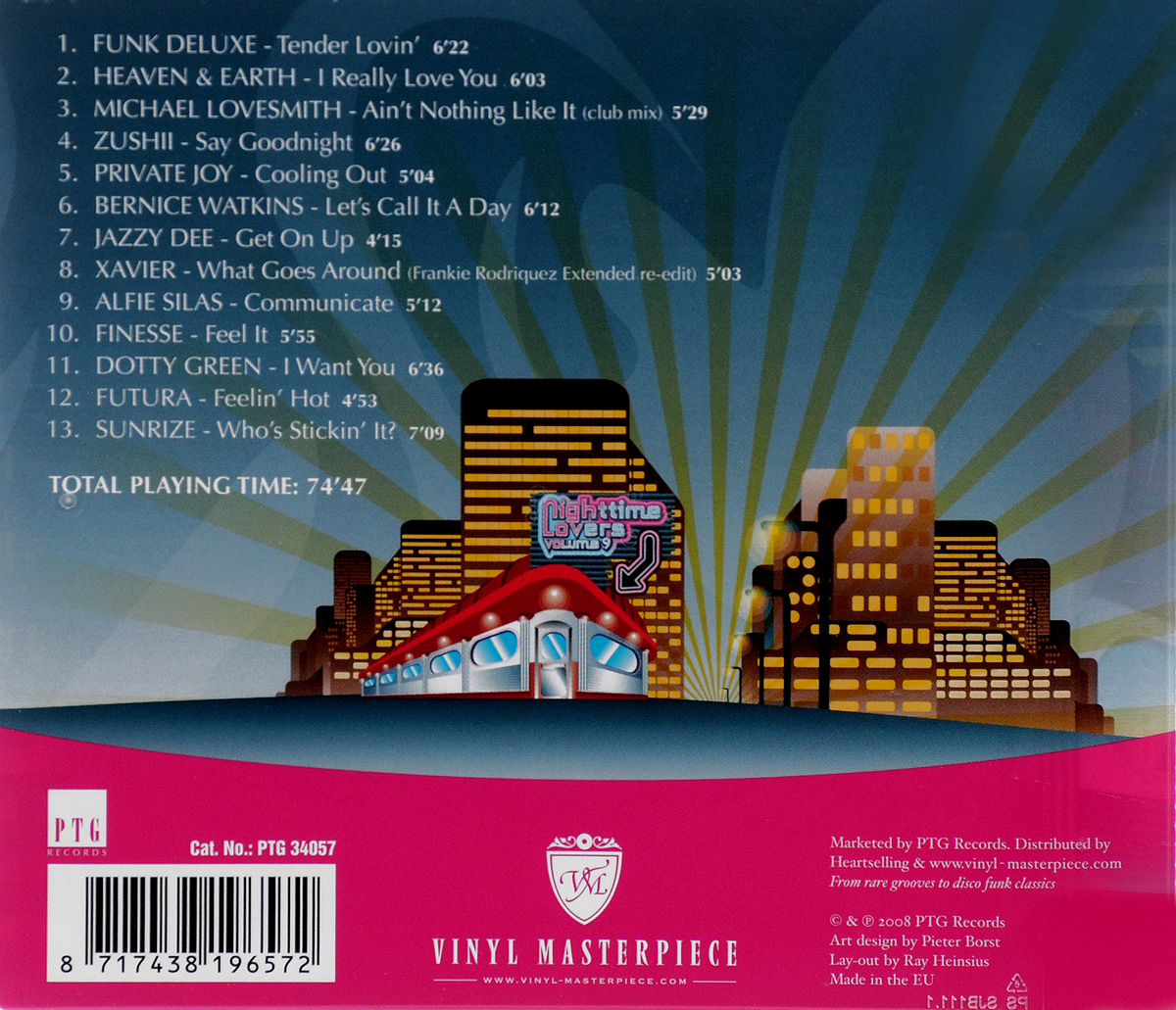 Nighttime Lovers.  Volume 9 PTG Records,Волтэкс-инвест