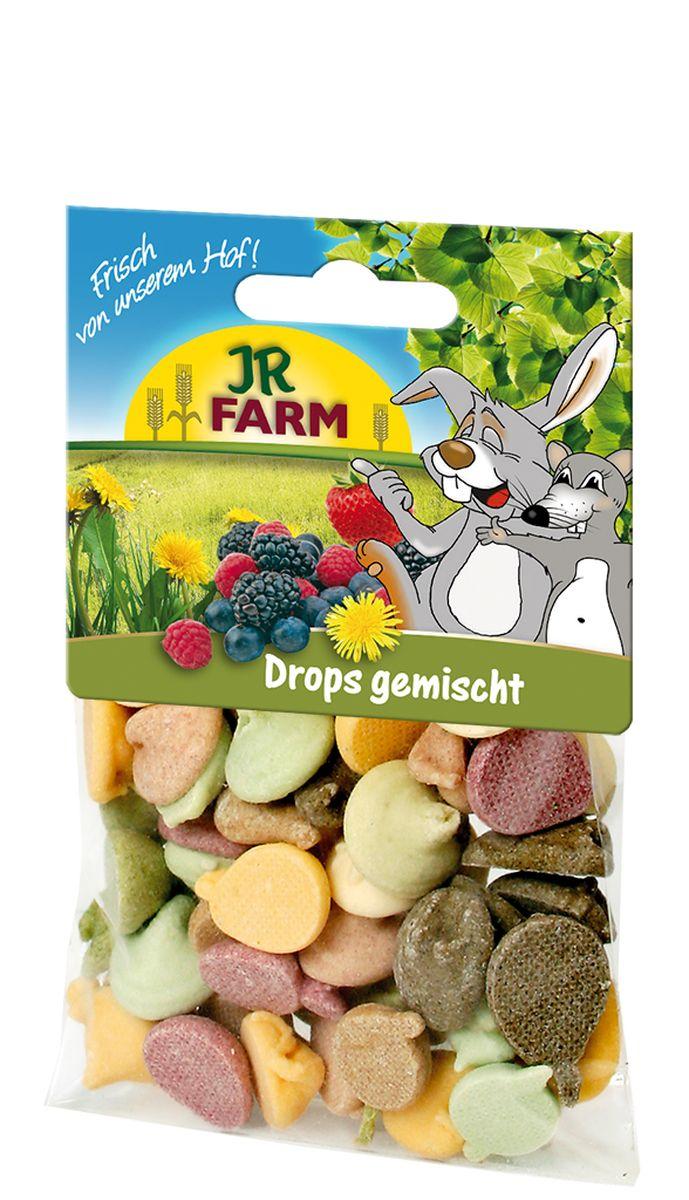 Лакомство для грызунов JR Farm Драже микс, 75 г лакомство для грызунов jr farm печенье из непросеянной муки и фруктов 80 г