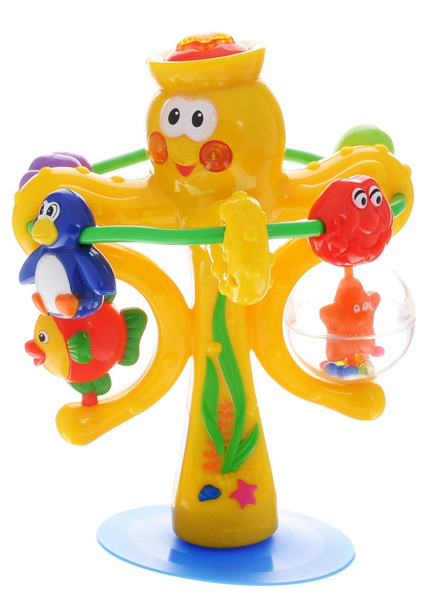Kiddieland Развивающая игрушка Осьминог на присоске набор столовых приборов zanussi como 24 предмета zuc34100af