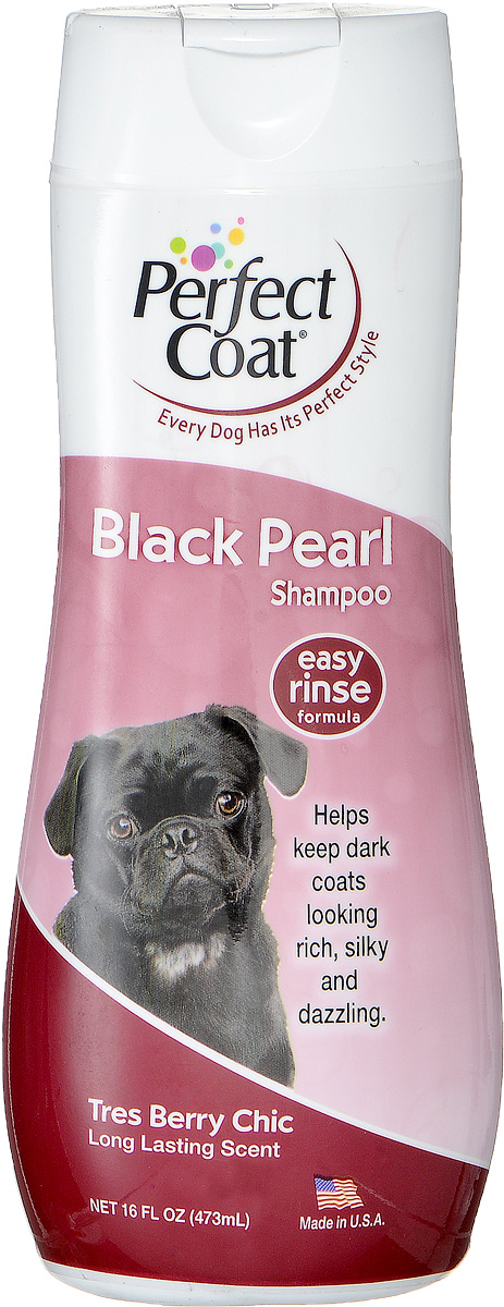 Шампунь-кондиционер для собак темных окрасов 8 in 1 Perfect Coat. Black Pearl, 473 мл1006404Шампунь-кондиционер для собак темных окрасов 8 in 1 Perfect Coat. Black Pearl способствует поддержанию насыщенности и блеска черной шерсти и темной шерсти. Экстракт натурального черного перламутра усиливает яркость темного окраса. Алоэ вера и частицы кондиционера увлажняют кожу, делают шерсть мягкой и блестящей. С ароматом бойзеновой ягоды.Легко смываемая формула. Применение: Обильно нанесите на влажную шерсть. Распределите шампунь массирующими движениями, продвигаясь от головы к хвосту и избегая попадания шампуня в глаза. Полностью смойте водой. При необходимости повторить. Расчешите шерсть, чтобы она не спуталась, и высушите полотенцем.Состав:Вода, натрия олеина сульфат, натрия сульфат, лаурамид, изостеариновый лактат, натрия хлорид, стеарат гликоля, гель алое-вера, пропилен гликоль, диазолиновая мочевина, метилпарабен, пропилпарабен, ароматизатор, красители.Товар сертифицирован.