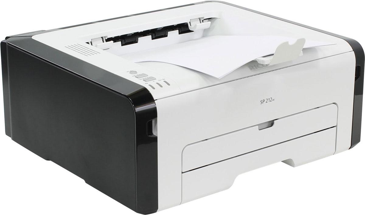 Ricoh SP 212w лазерный принтер407691Ricoh SP 212w - компактный монохромный принтер формата A4, практически не занимает места на рабочем столе. Благодаря полному фронтальному доступу работать с устройством удобно и просто. Поддержкабеспроводного соединения стандарта Wi-Fi, режим ручной двусторонней печати, встроенный лоток для бумаги и перезаправляемый картридж все в одном делают SP 212w идеальным решением для малых и домашних офисов.