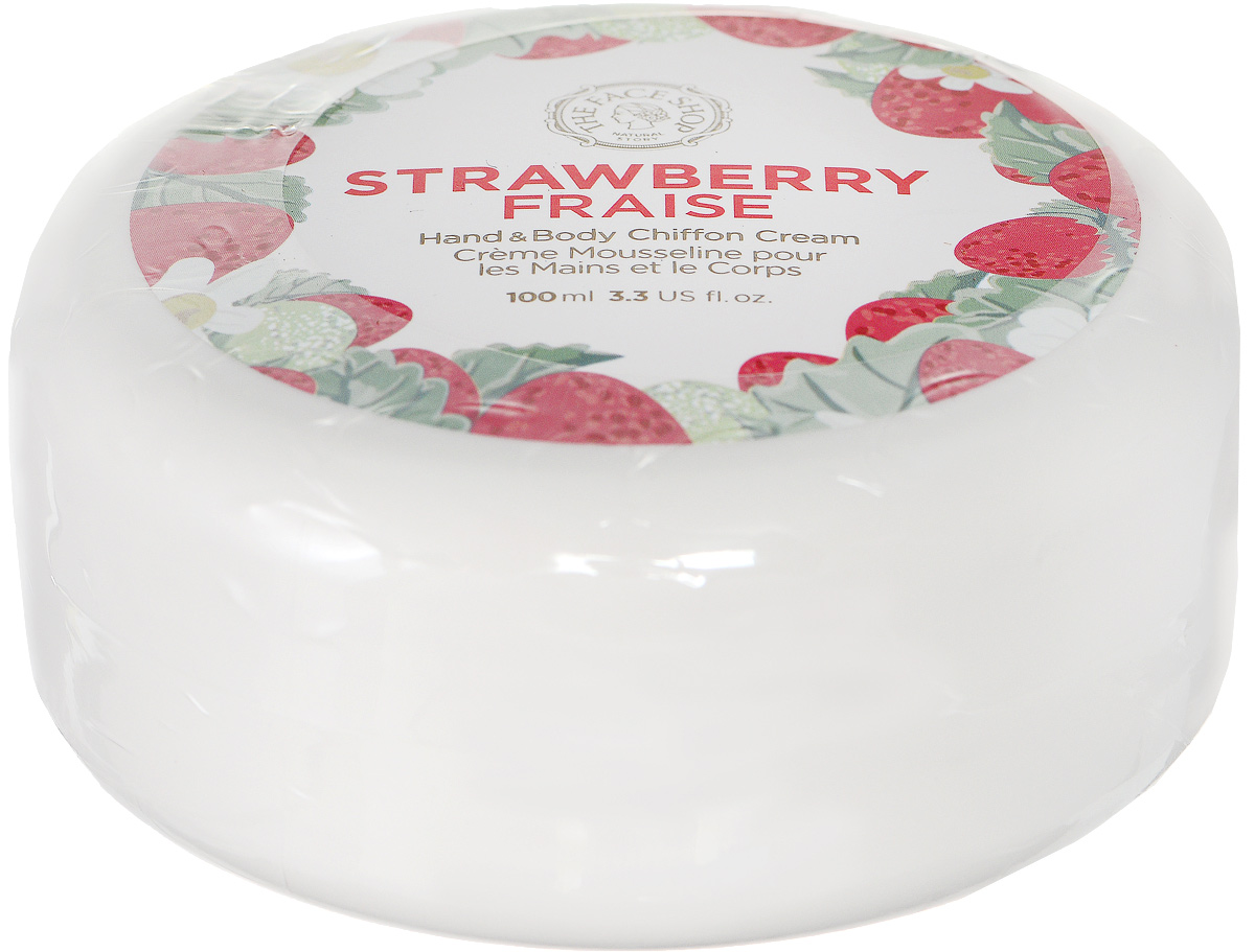 The Face Shop Крем для рук и тела с клубникой Chiffon Cream, 100 млУТ000001685Крем с текстурой взбитых сливок окутывает ваше тело тонкой вуалью. Смягчающий крем-шифон делает кожу мягкой, бархатистой, насыщает ее ароматом свежих фруктов. Обладает чудесным запахом, легкой и приятной текстурой.
