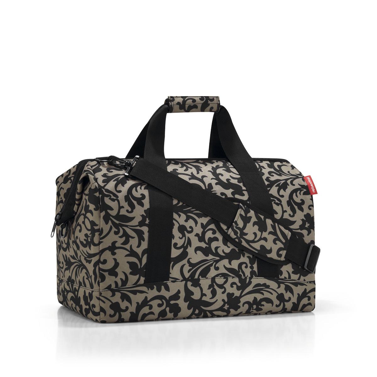 Сумка дорожная Reisenthel, цвет: черный, темно-бежевый. MT7027 reisenthel сумка allrounder l dots e5x dkcr