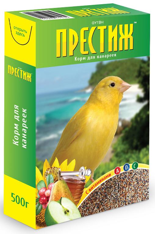 Корм Престиж для канареек, 500 г корм для птиц vitakraft menu vital для волнистых попугаев основной 1кг
