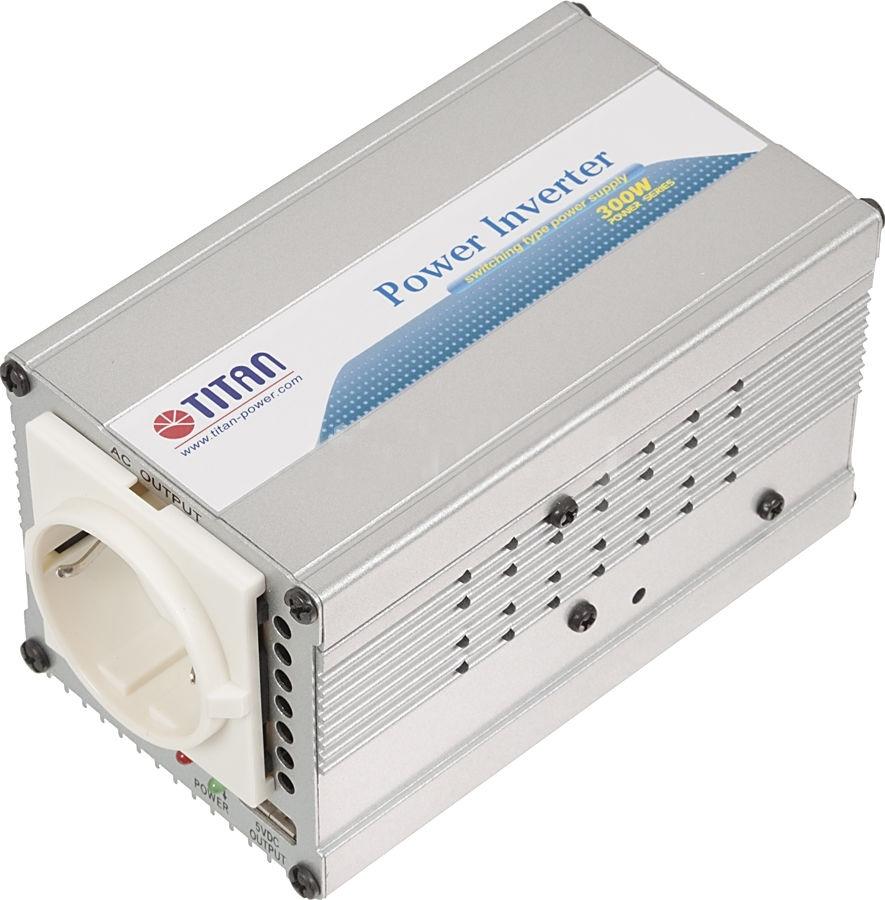 Автоинвертор Titan TP-300L6TP-300L6Портативный адаптер питания компании Titan является идеальным устройством питания для DVD-плееров, мобильных телефонов, ноутбуков и многих других электронных приборов . Адаптирован к большинству типов электронной техники.Многоуровневая защита, в том числе от перегрева, скачков напряжения и перегрузки, обеспечивает безопасность эксплуатации. Несомненно, Titan - Ваш лучший друг в мире систем электропитания!