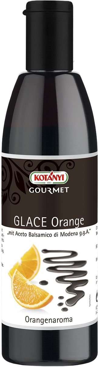 Kotanyi Бальзамический крем-соус со вкусом апельсина, 250 мл226201Бальзамический крем-соус со вкусом апельсина идеально подходит к блюдам из дичи, паштетам, а также десертам и мороженому. Уважаемые клиенты! Обращаем ваше внимание, что полный перечень состава продукта представлен на дополнительном изображении.