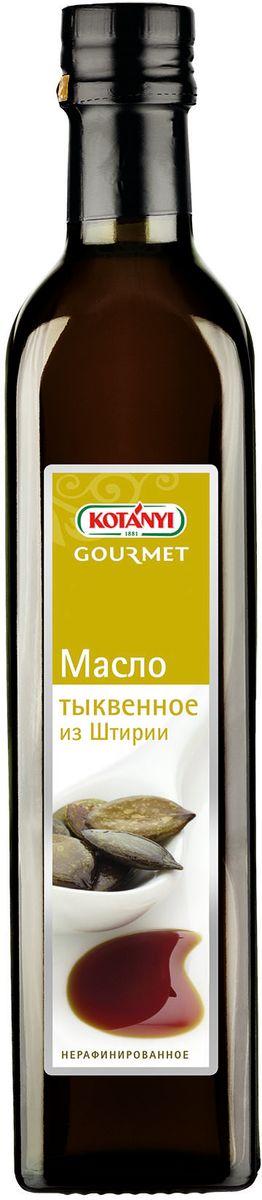 Kotanyi Масло тыквенное, 500 г611311Только лучшие семена темно-зеленой штирийской тыквы используются для отжима драгоценного тыквенного масла сорта премиум. Благодаря специальному процессу обжарки семена придают этому особенному маслу острый вкус и характерный аромат. В последние годы тыквенное масло стало кулинарным флагманом Штирии, покорив многие национальные кухни мира.Тыквенное масло не только обладает прекрасным вкусом, оно также имеет ряд полезных для здоровья особенностей. Оно не содержит холестерин, но при этом богато основными жирными кислотами и витамином Е. Благодаря высокому содержанию фитостеролов оно оказывает благоприятное воздействие на предстательную железу и уменьшает раздражение мочевого пузыря. Тыквенное масло очень чувствительно к повышенным температурам, его нельзя нагревать.Тыквенное масло обогащает вкус салатов, спредов и блюд из яиц, а также многих традиционных блюд, таких как острокислый салат с говядиной, отварная мраморная говядина и мясное заливное.