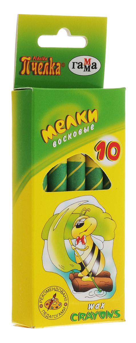 Гамма Мелки восковые Пчелка 10 шт