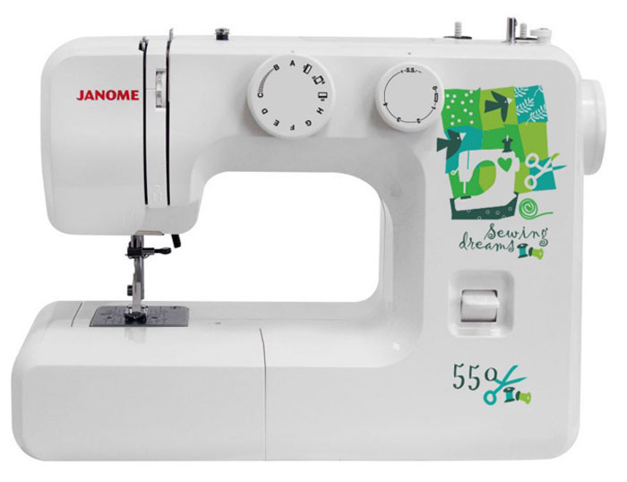 Janome 550 швейная машина550Janome 550 - отличный вариант для начинающих швей, а также для тех, кто собирается использовать машинку лишь от случая к случаю.Модель отличается доступной ценой, приятным дизайном и простотой в эксплуатации. Устройство выполняет 15 различных видов строчек, включающие в себя не только рабочие, но и декоративные. Для хранения мелких швейных принадлежностей внутри корпуса расположен специальный ящик. Кнопка реверса поможет вам надежно закрепить концы строчек. Длину и ширину стежка вы регулируете вручную, подстраиваясь под выбранный тип ткани.