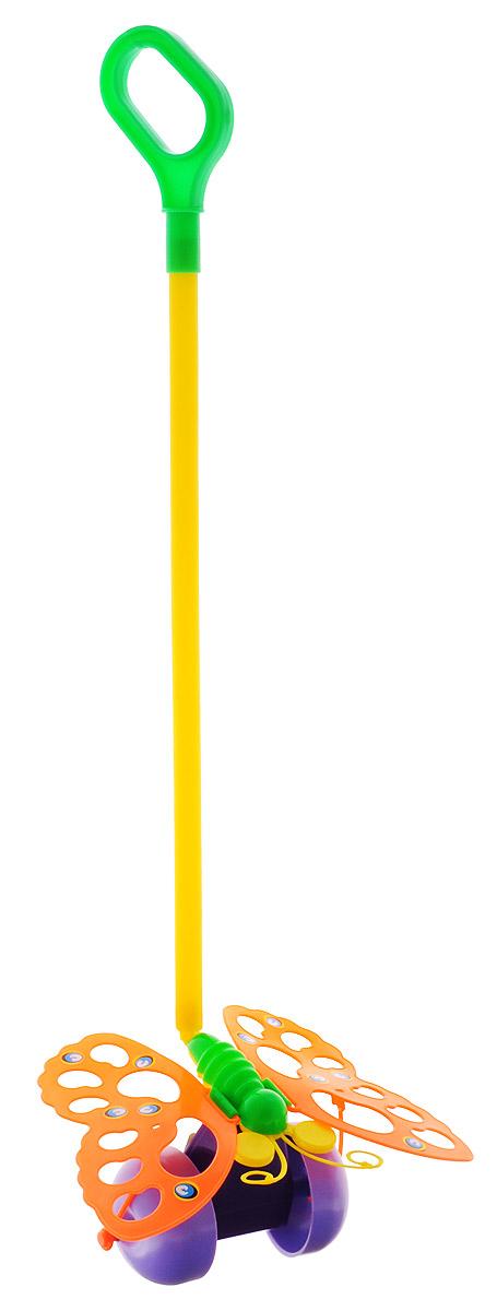 Спектр Игрушка-каталка Бабочка цвет оранжевый купить щетку для тела с длинной ручкой