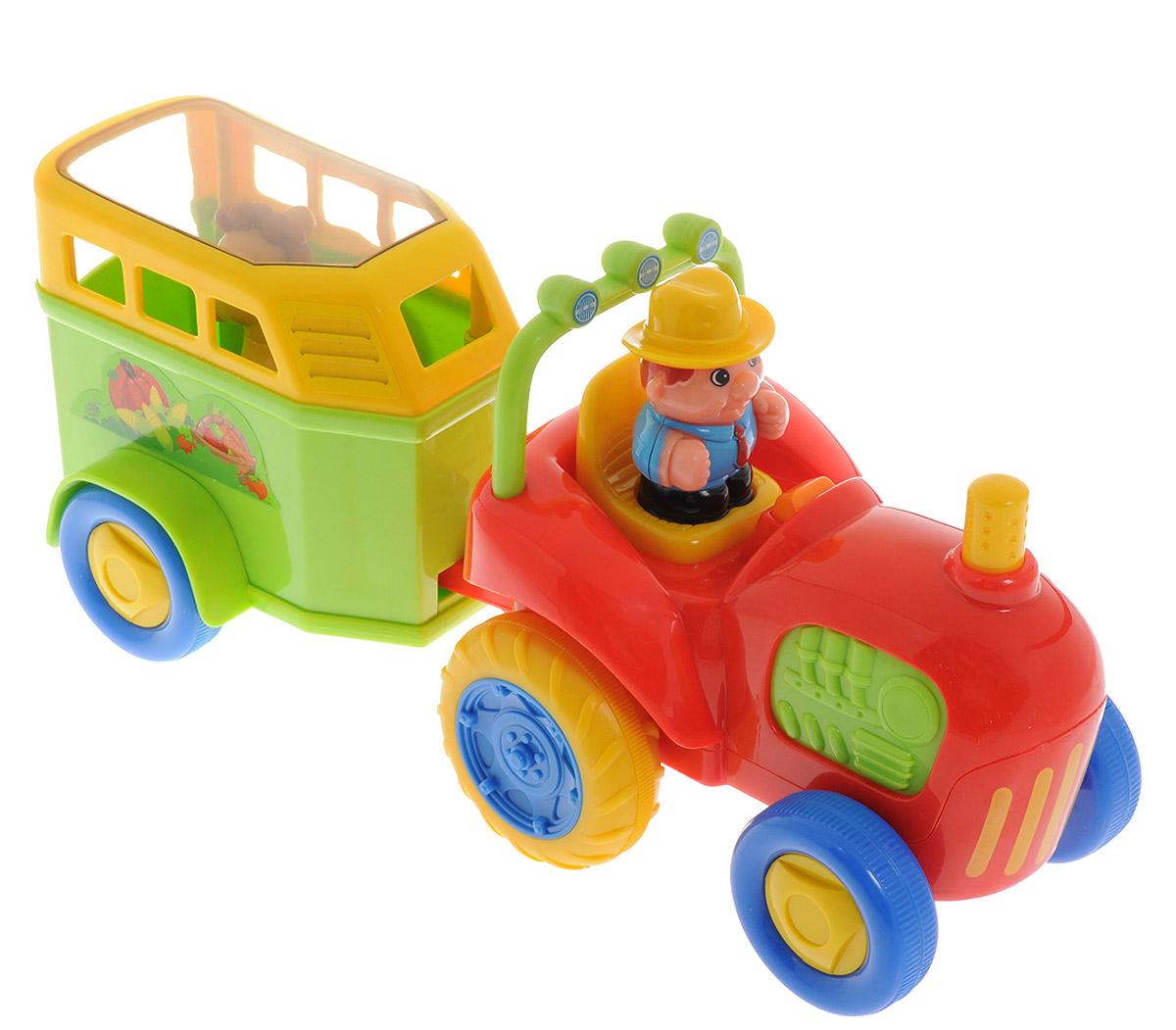Kiddieland Развивающая игрушка Трактор с лошадкой развивающая игрушка конструктор трактор с тележкой бомик