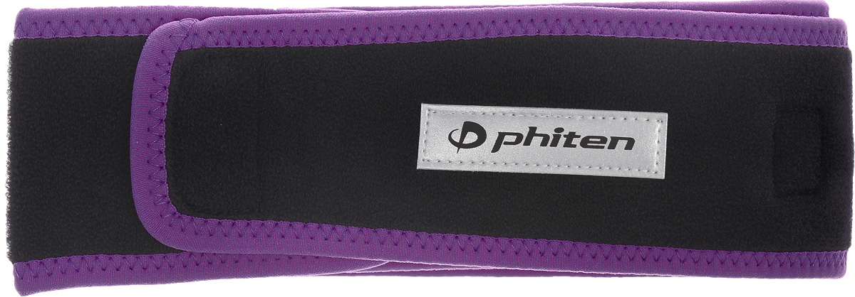 Суппорт для спины Phiten Sport, цвет: черный, фиолетовый, длина 85 см
