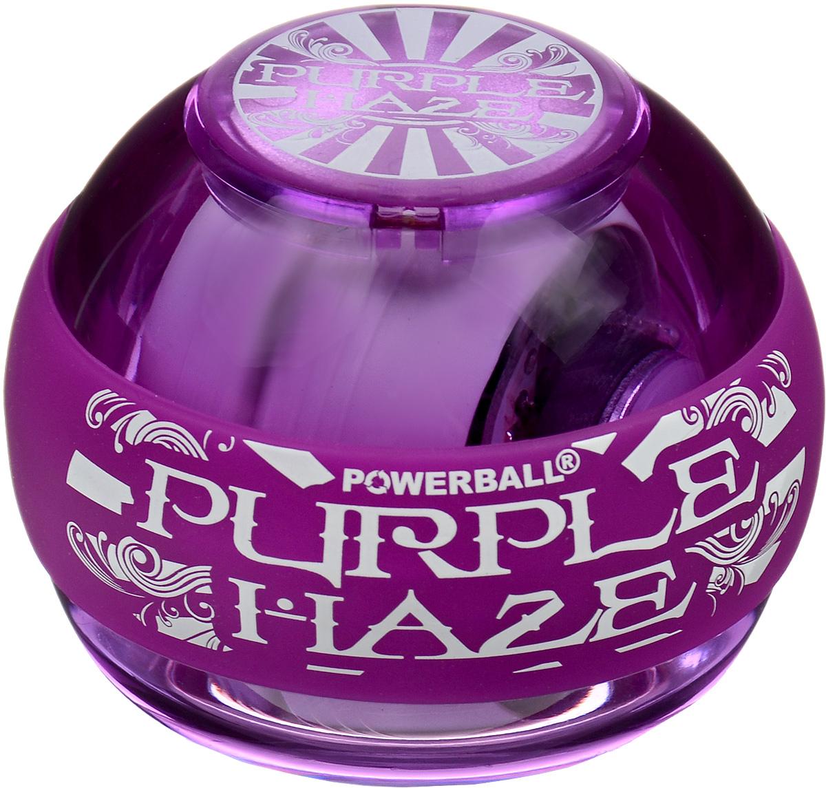 Тренажер кистевой NSD Power Powerball 250Hz Purple Haze, цвет: пурпурныйУТ-00007341NSD Power Powerball 250Hz Purple Haze - новая модель с подсветкой, продолжающая линейку Neon. Тренажер укрепляет мышцы руки простым, но эффективным способом, а так же обеспечивает быструю реабилитацию после различных травм. Отлично продуманная конструкция приспособления и рабочая частота 250 Гц обеспечивают плавное вращение ротора на скорости до 15 000 оборотов в минуту. В данную модель можно установить счетчик. В комплект входят диск и два шнура для раскрутки тренажера.Диаметр тренажера: 7 см