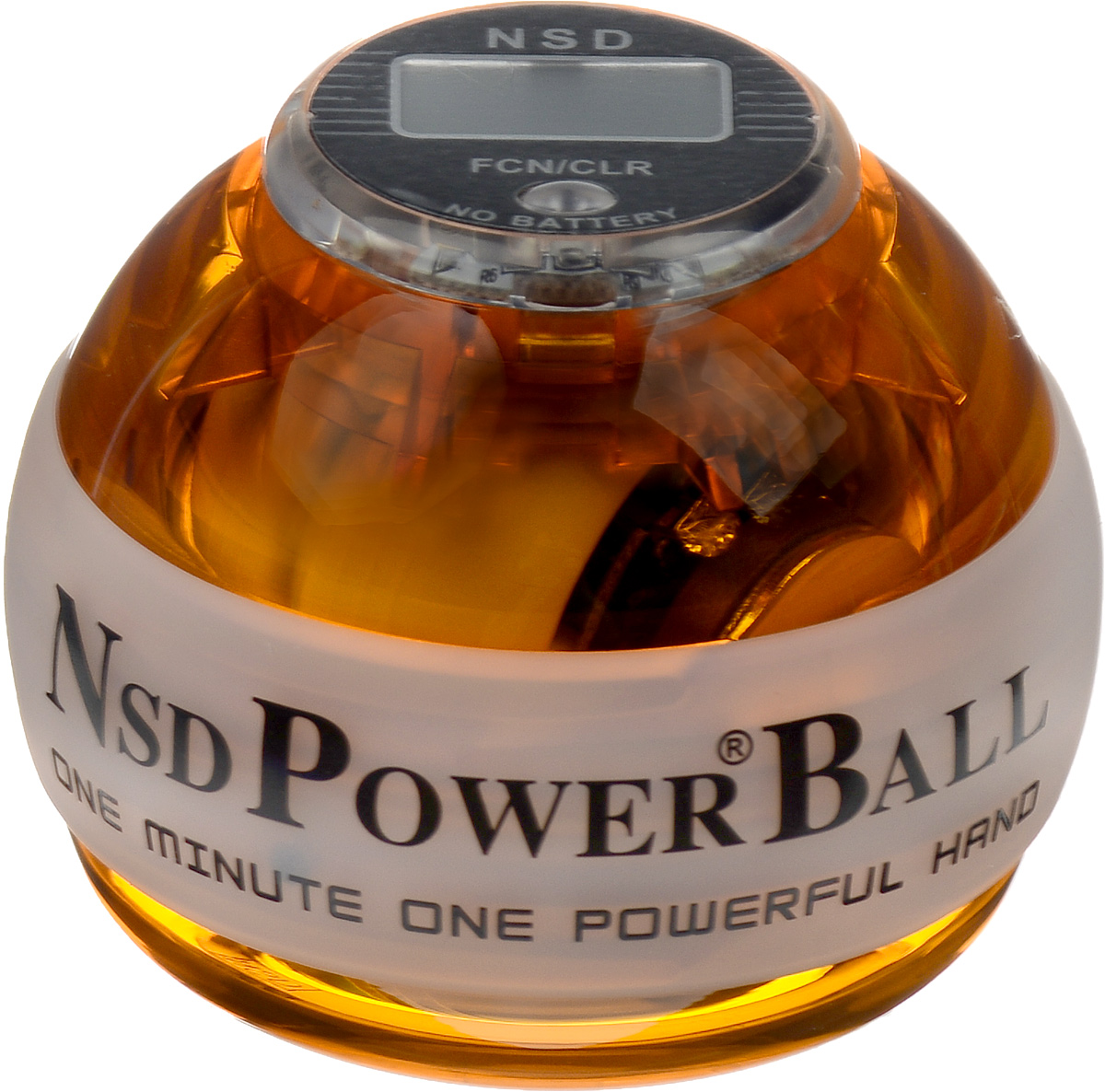 Тренажер кистевой NSD Power Powerball Neon Pro, цвет: оранжевыйPB-688LC AmberКистевой тренажер NSD Power Powerball Neon Pro - новая модель c счетчиком и подсветкой. Тренажер изготовлен из более прочного материала с системой защиты ротора, предотвращающей его повреждение при падении шара на твердую поверхность. Он будет служить вам очень долгое время.Также в эту модель внедрена система сменных колец для быстрого ремонта при повреждении. Новый счетчик со встроенным генератором работает без батареек. Прекрасно отрегулированный ротор тренажера с отличным балансом может достигать скорости вращения до 15000 оборотов в минуту.В комплект входят инструкция по использованию и два шнурка для раскрутки. Стильный тренажер для кисти рук, который можно использовать в любую свободную минуту. Упражнения, проделываемые регулярно, обеспечат отличную тренировку рук, разработку кисти после травмы у спортсменов и не только.Размер тренажера: 7 х 8 см.