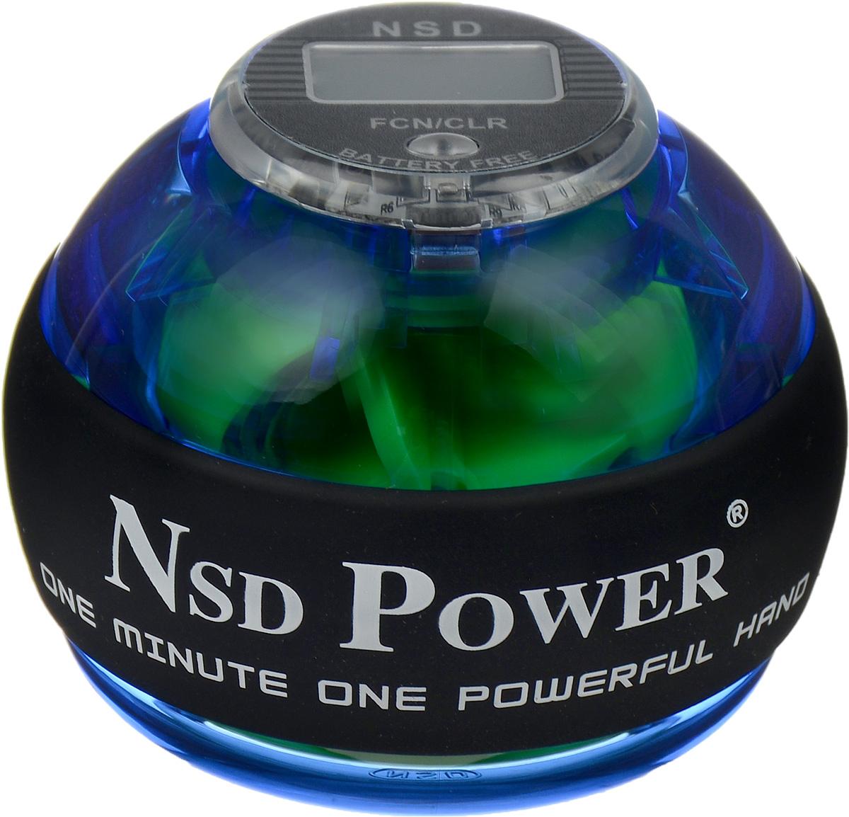 Тренажер кистевой NSD Power Powerball Pro, цвет: синийPB-688C BlueКистевой тренажер NSD Power Powerball Pro - новая модель со счетчиком, изготовленная из более прочного материала с системой защиты ротора. Также в эту модель внедрена система сменных колец для быстрого ремонта при повреждении. Новый счетчик со встроенным генератором, работает без батареек. Прекрасно сбалансированный ротор тренажера может достигать скорости вращения до 15000 оборотов в минуту, при этом обеспечивая плавное и легкое вращение. В комплект входят инструкция и два шнурка. Стильный тренажер для кисти рук, который можно использовать в любую свободную минуту и в любом удобном месте. С помощью NSD Power Powerball Pro можно проводить профилактику туннельного синдрома, боли в кистях и запястьях, которым особенно подвержены люди, работающие на компьютере. Размер тренажера: 6,5 х 8 см.