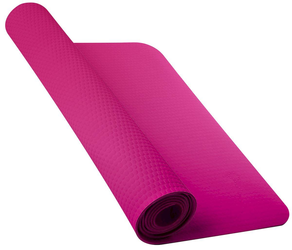 Мат для йоги Nike, цвет: розовый