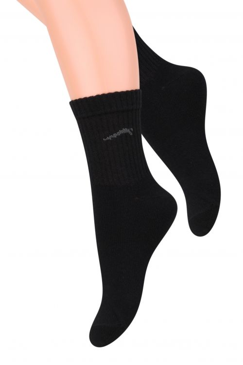 Носки для мальчика Steven, цвет: черный. 014 (CG32). Размер 32/34, 7-9 лет айфон 7 32 черный