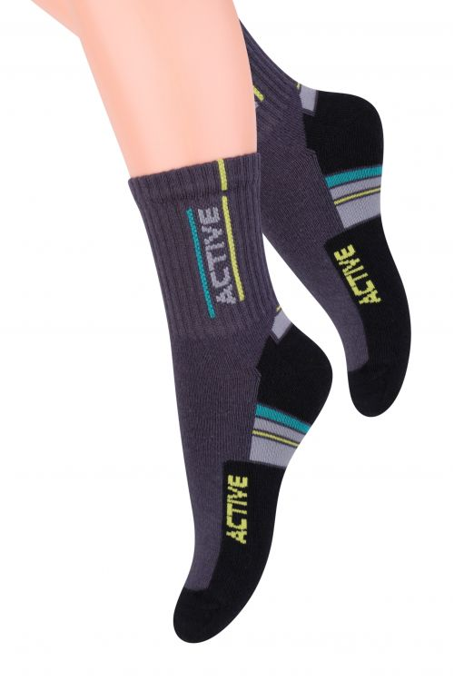 Носки для мальчика Steven, цвет: темно-серый, черный. 014 (CF162). Размер 29/31, 5-7 лет носки steven цвет белый 007 ld1 размер 44 46