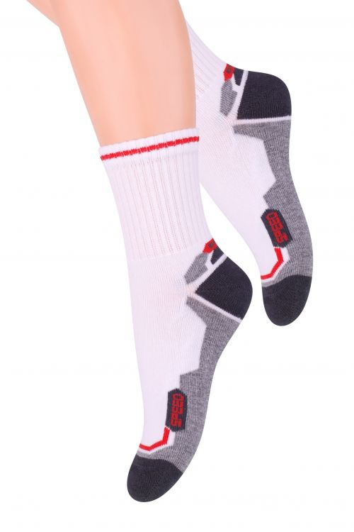 Носки для мальчика Steven, цвет: белый, темно-серый, красный. 014 (CG167). Размер 32/34, 7-9 лет belkin wemo