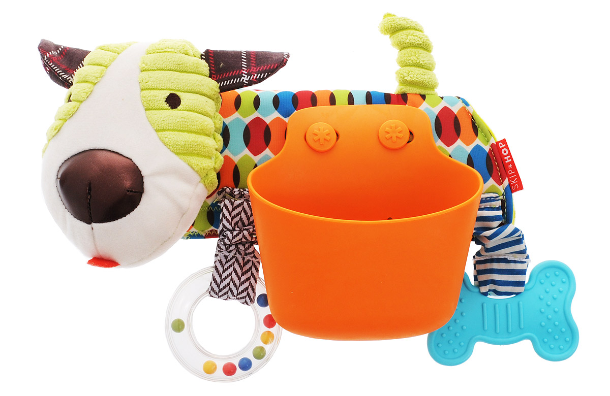 Skip Hop Развивающая игрушка-подвеска на коляску Щенок игрушка подвеска bright starts развивающая игрушка щенок