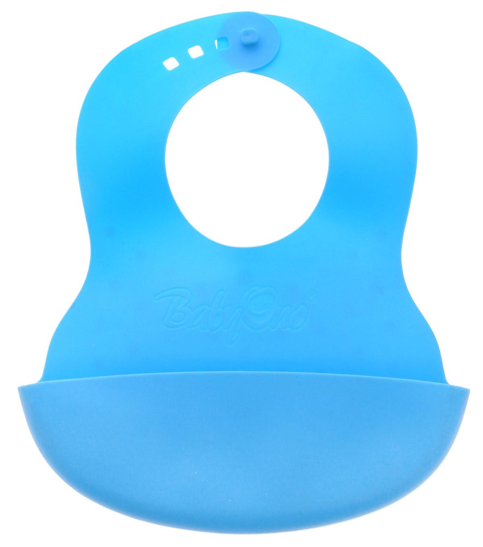 BabyOno Нагрудник цвет голубой детский ковшик babyono голубой 1035