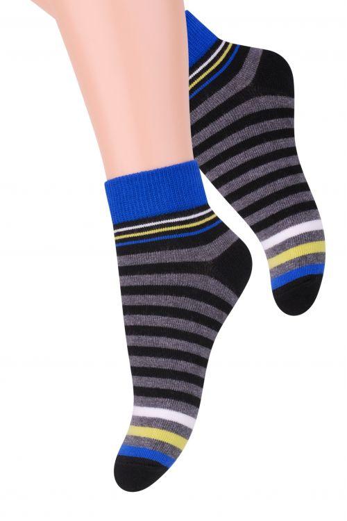 Носки для мальчика Steven, цвет: черный, синий, серый. 004 (RA98). Размер 26/28, 4-5 лет004 (RA98)/004 (RC98)Хлопковые носки для мальчика Steven отлично подойдут для повседневной носки.Они изготовлены из высококачественного материала, очень мягкие на ощупь, не раздражают даже самую нежную и чувствительную кожу. Оформлено изделие цветными полосками. Такие носки послужат замечательным дополнением к детскому гардеробу!