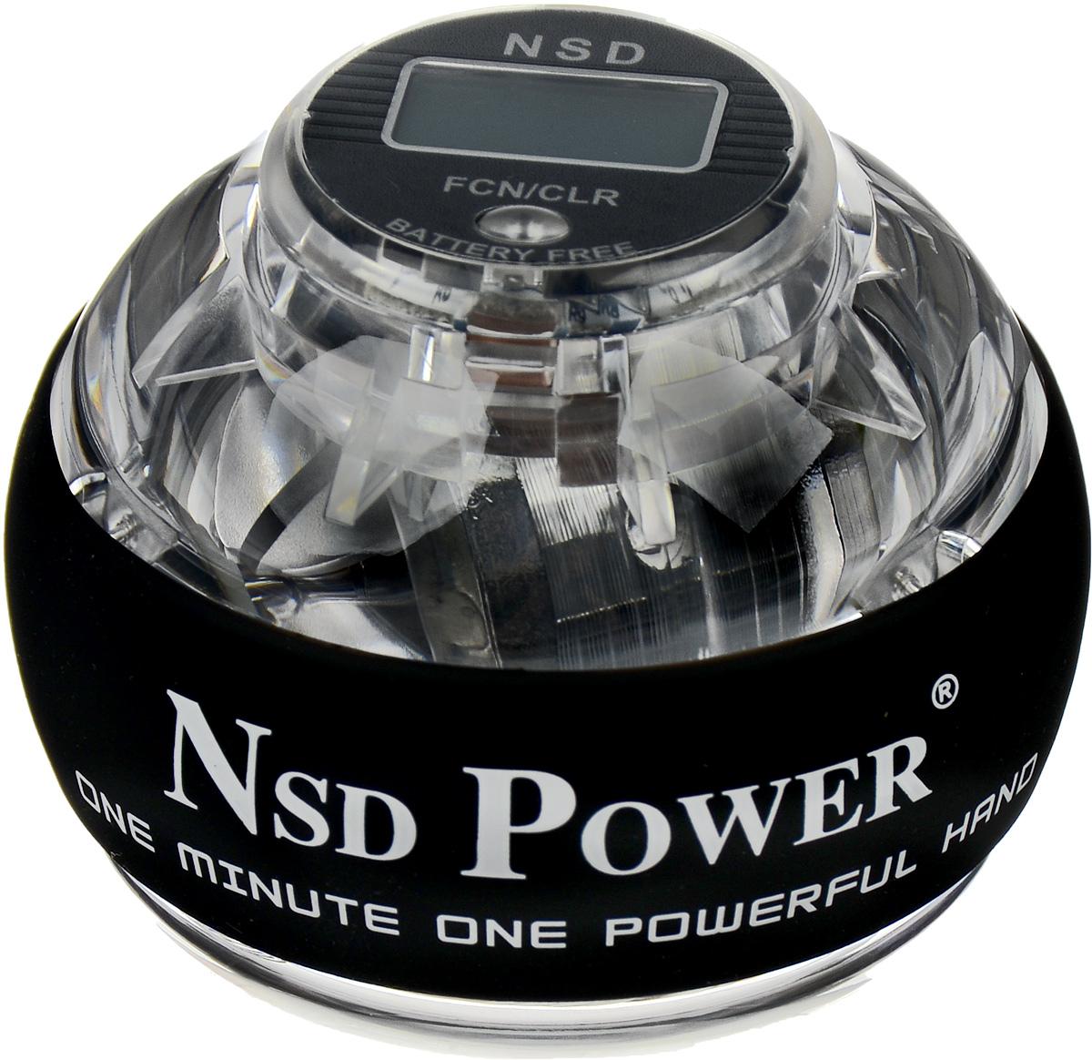 Тренажер кистевой NSD Power Powerball Pro, цвет: прозрачный, серебристыйPB-688C CrystalКистевой тренажер NSD Power Powerball Pro - обновленная модельсо счетчиком, изготовленная из более прочного материала ссистемой защиты ротора. Ротор тренажера выполнен из металла исбалансирован так, что его можно раскрутить до 15000 оборотов вминуту, правда, для этого нужно приложить немалые усилия. Новыйсчетчик со встроенным генератором, работает без батареек.Счетчик позволяет контролировать скорость вращения ротора, чтодает возможность проследить свои успехи в тренировках.В комплект входят инструкция и два шнурка. Стильный тренажер для кисти рук, который можно использовать влюбую свободную минуту и в любом удобном месте. С помощьюNSDPower Powerball Pro можно проводить профилактику туннельногосиндрома, боли в кистях и запястьях, которым особенно подверженылюди, работающие на компьютере. Размер тренажера: 6,5 х 8 см.