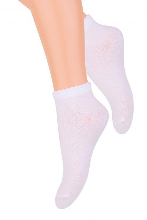 Носки для девочки Steven, цвет: белый. 004 (RF21). Размер 29/31, 5-7 лет004 (RG21)/004 (RF21)Хлопковые носки для девочки Steven, оформленные оригинальным рисунком, отлично подойдут для повседневной носки.Они изготовлены из высококачественного материала, очень мягкие на ощупь, не раздражают даже самую нежную и чувствительную кожу. Такие носки послужат замечательным дополнением к детскому гардеробу!