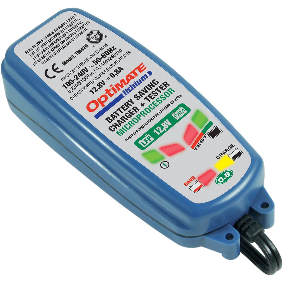 Зарядное устройство OptiMate Lithium 0,8А. TM470TM470Многоступенчатое устройство Optimate от бельгийской компании TecMate с режимами тестирования, восстановления глубокоразряженных аккумуляторных батарей и хранения. Управление полностью автоматическое без кнопок. Заряжает только литий-ионные аккумуляторные батареи, выполненные по технологии LiFePo4. Защита от короткого замыкания, переполюсовки, искрообразования, перегрева. Оптимизирует срок службы и здоровье аккумуляторной батареи. Влагозащищенный корпус. Рекомендовано 10-ю ведущими производителями мототехники. OptiMate Lithium 0,8А рекомендуется для LiFePo4 АКБ от 2 Ач до 50 Ач. Ток зарядки: 0,8А. Старт заряда АКБ от 0,5В. Температурный режим -20...+40°С. В комплект устройства входят аксессуары: O1 кольцевой разъем постоянного подключения и O4 зажимы типа крокодил.