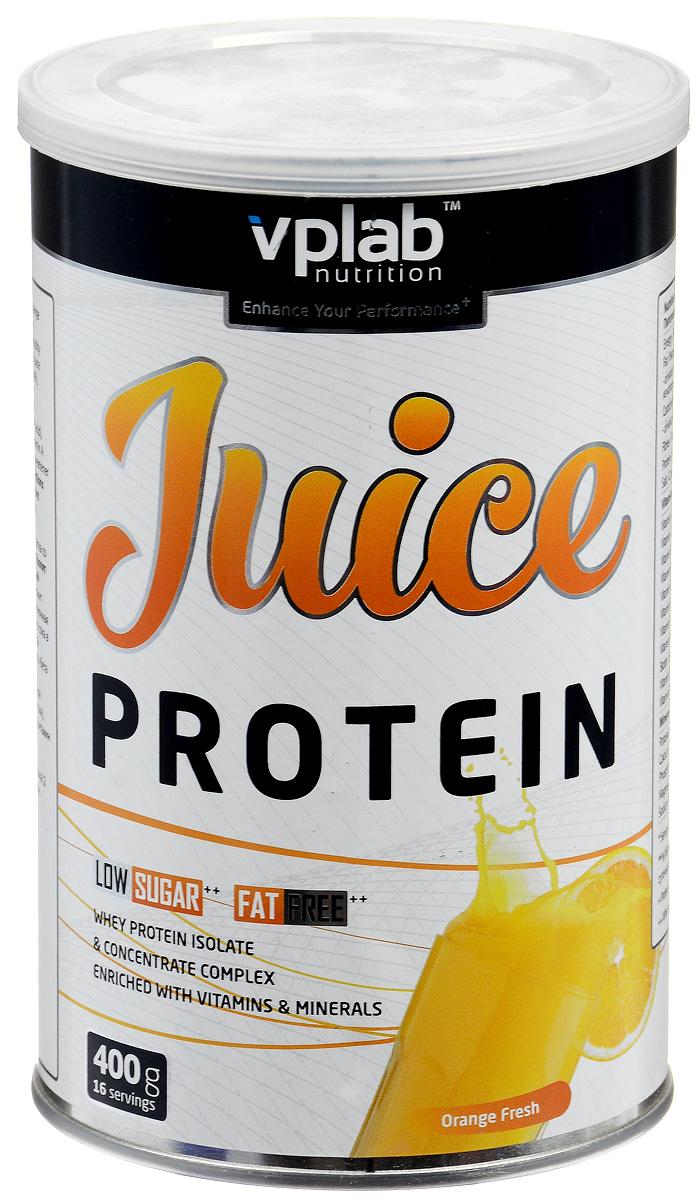 Протеин VP Laboratory Джус Протеин, апельсин, 400 г натура биссе с с витаминный комплекс концентрата сывороточного