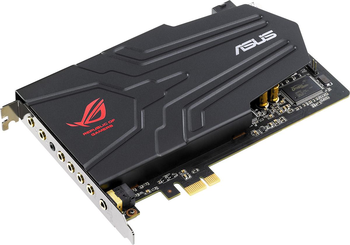 ASUS ROG Xonar Phoebus звуковая картаROG XONAR PHOEBUSНовая модель игровой звуковой карты Asus ROG Xonar Phoebus предлагает всем любителям компьютерных игр высочайшее качество звучания и точное позиционирование источников звука в пространстве. Отличное соотношение сигнал/шум, технология шумоподавления ROG Command, внешний блок управления – эти и другие особенности данной модели делают ее настоящим подарком для всех увлеченных геймеров!Хотите насладиться мощным и чистым звуком в игре и слышать даже малейшие оттенки звучания, чтобы ориентироваться в каждом игровом эпизоде лучше своего противника? Все это обеспечит геймерская звуковая карта ROG Xonar Phoebus от разработчиков серии аудиорешений ASUS Xonar, обладателей престижных наград крупнейшей выставки потребительской электроники CES. В устройстве используются только высококачественные компоненты. Также реализован ряд инновационных технологий, таких как ROG Command, Hyper Grounding, Dolby Home Theater V4 для качественного воспроизведения игрового звука.Кроме великолепного звучания, Asus ROG Xonar Phoebus гарантирует высокое качество голосовой связи во время игры. Благодаря эксклюзивной технологии ROG Command достигается подавление до 50% окружающих шумов, поэтому на турнирах в формате LAN Party игроки будут чувствовать себя как дома.Цифро-аналоговый преобразователь данной звуковой карты обладает беспрецедентно высоким для игровых карт соотношением сигнал-шум (118 дБ), обеспечивая великолепное звучание. В звуковой карте использована многослойная печатная плата с уникальным дизайном для защиты аналогового тракта, чувствительного к воздействию помех и наводок. Этим достигается высочайшее качество сигнала.В Asus ROG Xonar Phoebus используется высококачественный ЦАП (PCM1796), обеспечивающий соотношение сигнал/шум на уровне 118 дБ. Это значит, что ее звучание в 4 раза чище, чем тот звук, который выдают обычные звуковые карты геймерского класса, и в 32 раза чище, чем аудиорешения, встраиваемые в материнские платы. Гармонич