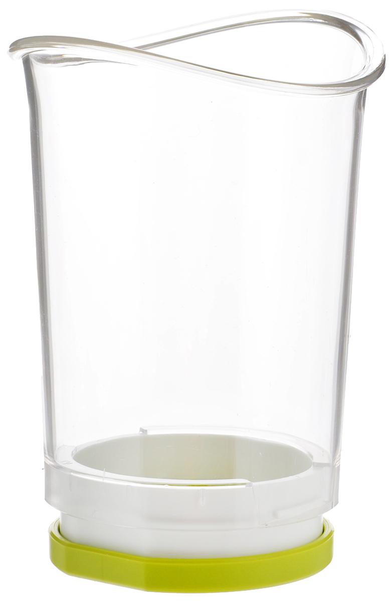 Устройство для нарезки овощей VacuVin Slice & Catch, цвет: белый4651660Устройство для нарезки овощей Vacu Vin Slice & Catch изготовлено из экологически чистого пластика, режущая кромка выполнена из металла.С его помощью можно нарезать на ломтики несколько фруктов и овощей, а готовые ломтики попадут внутрь эргономичной чаши. Просто нажмите резкой на фрукт или овощ, который вы хотите порезать, и стальные лезвия внизу чаши нарежут его ломтиками. Устройство легко и безопасно в использовании. Характеристики:Материал: пластик, металл. Цвет: белый. Высота чаши: 12,7 см. Диаметр чаши: 8 см. Диаметр дна: 6,5 см. Размер упаковки: 9 см х 9 см х 14,5 см. Артикул: 4651660.